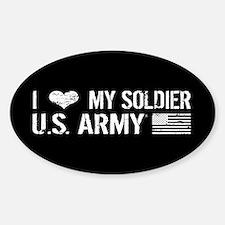U.S. Army: I Love My Soldier (Black) Bumper Stickers