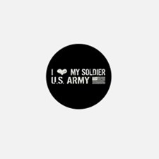 U.S. Army: I Love My Soldier (Black) Mini Button (