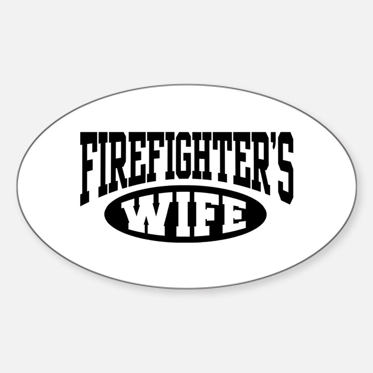 Firefighter's Wife Oval Decal