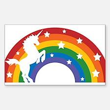 Retro Rainbow Unicorn Decal