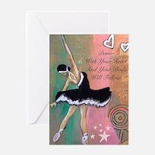 Funny Dance recital Greeting Card