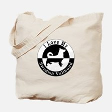 Cute Swedish vallhund Tote Bag