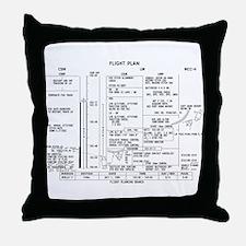 Apollo 11 Flight Plan Throw Pillow