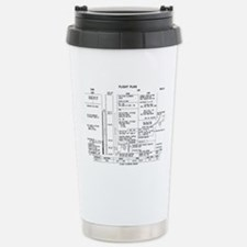 Apollo 11 Flight Plan Stainless Steel Travel Mug