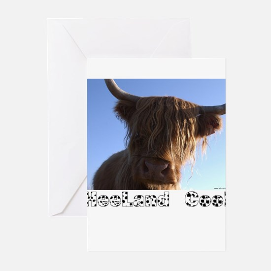 """Scottish """"Heeland Coo"""" Greeting Cards (Package of"""