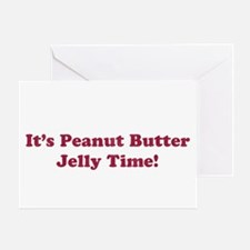 Peanut Butter Jelly Time Greeting Card
