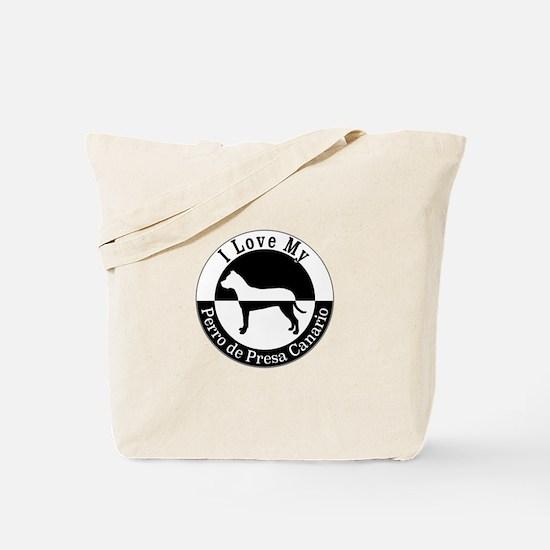 Cute Perro de presa canario Tote Bag