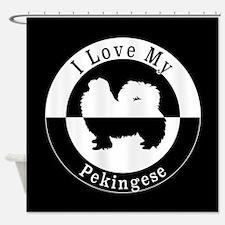 Cute Pekingese rescue Shower Curtain