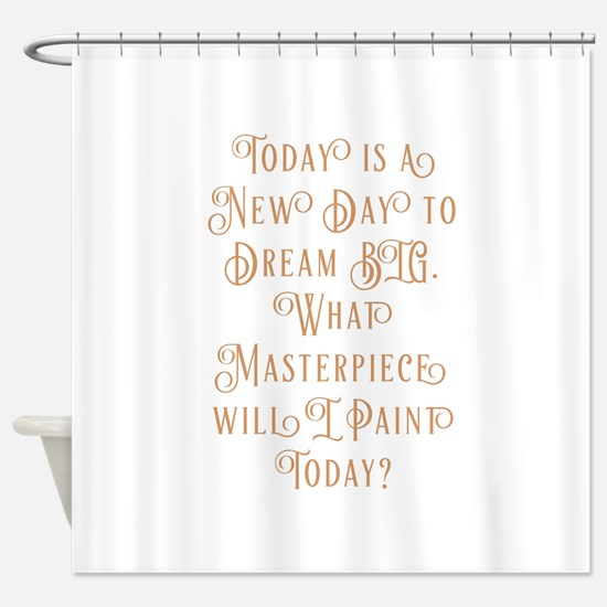 What's Your Masterpiece? Shower Curtain