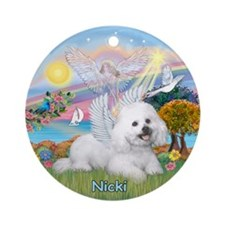 Cloud Angel (#2) & Angel Nicki Ornament (Round)
