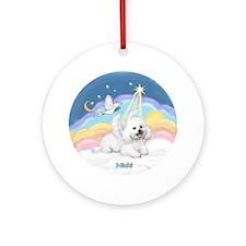 Angel Nicki in Pastel Clouds Ornament (Round)