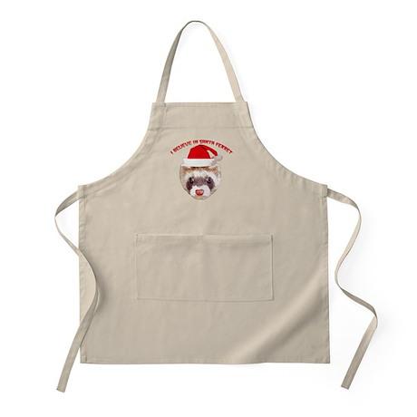 Santa Ferret BBQ Apron