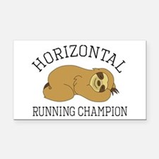 Horizontal Running Champion - Rectangle Car Magnet