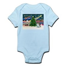 XmasMagic & Pom (sw) Infant Bodysuit