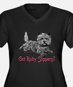 Cairn Terrier Ruby Slippers Plus Size T-Shirt