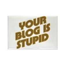 Stupid Blog Rectangle Magnet (100 pack)