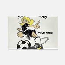 PERSONALIZED SOCCER MOM Rectangle Magnet