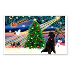 XmasStar/Poodle (ST-B) Rectangle Decal