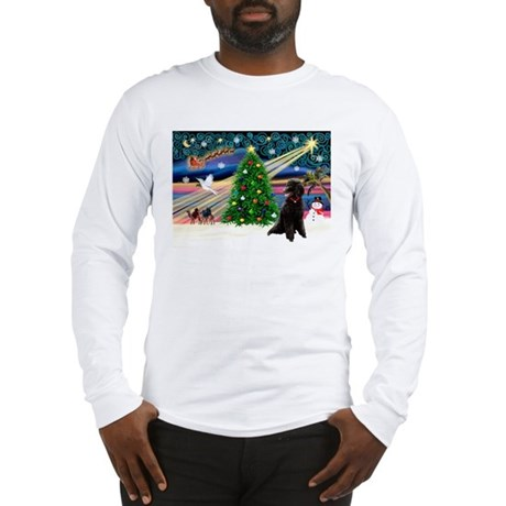 XmasStar/Poodle (ST-B) Long Sleeve T-Shirt