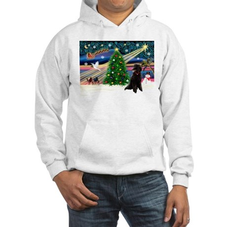 XmasStar/Poodle (ST-B) Hooded Sweatshirt