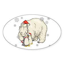Christmas Polar Bear Decal