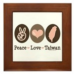 Peace Love Taiwan Framed Tile