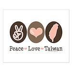 Peace Love Taiwan Small Poster