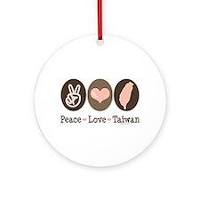 Peace Love Taiwan Ornament (Round)