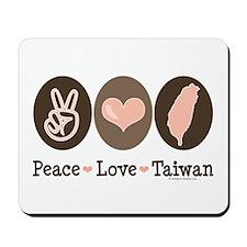 Peace Love Taiwan Mousepad