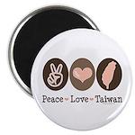 Peace Love Taiwan Magnet