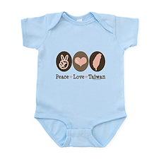 Peace Love Taiwan Infant Bodysuit
