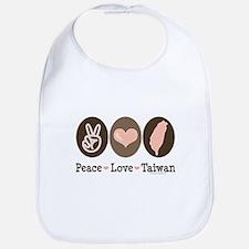 Peace Love Taiwan Bib
