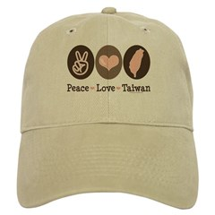 Peace Love Taiwan Cap