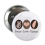 Peace Love Taiwan Button