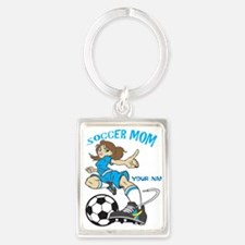 PERSONALIZED SOCCER MOM Portrait Keychain