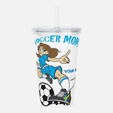 PERSONALIZED SOCCER MO Acrylic Double-wall Tumbler