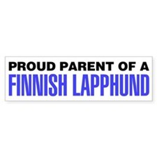 Proud Parent of a Finnish Lapphund Bumper Sticker