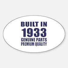Built In 1933 Sticker (Oval)