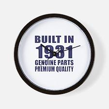 Built In 1931 Wall Clock
