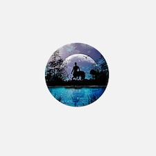 Wonderful centaur silhouette Mini Button