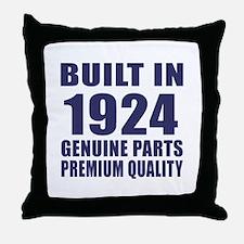 Built In 1924 Throw Pillow