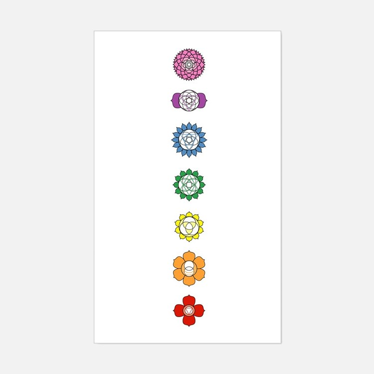 Chakra Strip Rectangle Decal