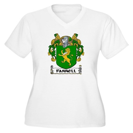 Farrell Coat of Arms Women's Plus Size V-Neck T-Sh