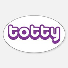 Totty Oval Decal