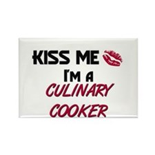 Kiss Me I'm a CULINARY COOKER Rectangle Magnet