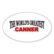 """The World's Greatest Canner"" Oval Decal"