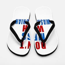 Don't Mess With Washingtonian Flip Flops