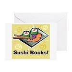 Sushi Rocks Greeting Cards (Pk of 20)