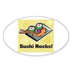 Sushi Rocks Oval Decal