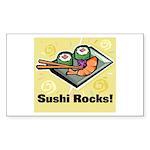 Sushi Rocks Rectangle Sticker